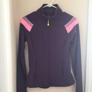 Ivivva Girl's Plum/Pink Zip Up Jacket Size 14